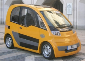 Jostin's Microcab vehicle has received support and finance from Coventry University in recent times
