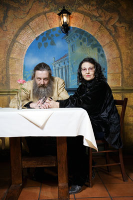 Jonathan worth's photo of Alan Moore and Melinda Gebbie taken in 2007