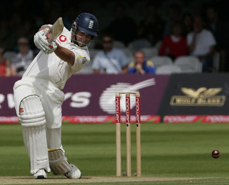 Andrew Strauss captained England to an emphatic win over the West Indies